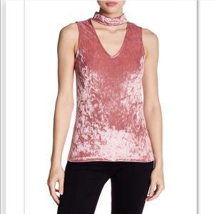 Tart collections velvet choker sleeveless blouse